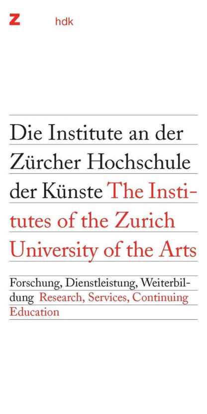 The Institutes of the Zurich University of the Arts